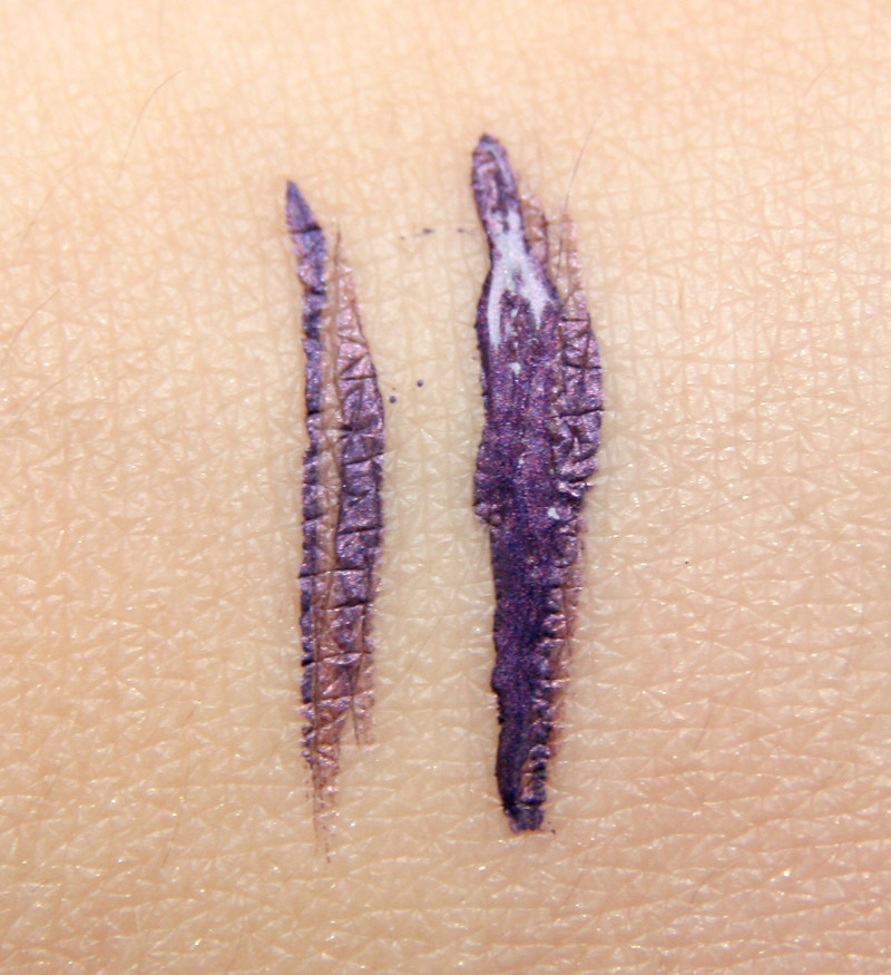 tbs ink up violet liquid eyeliner swatch