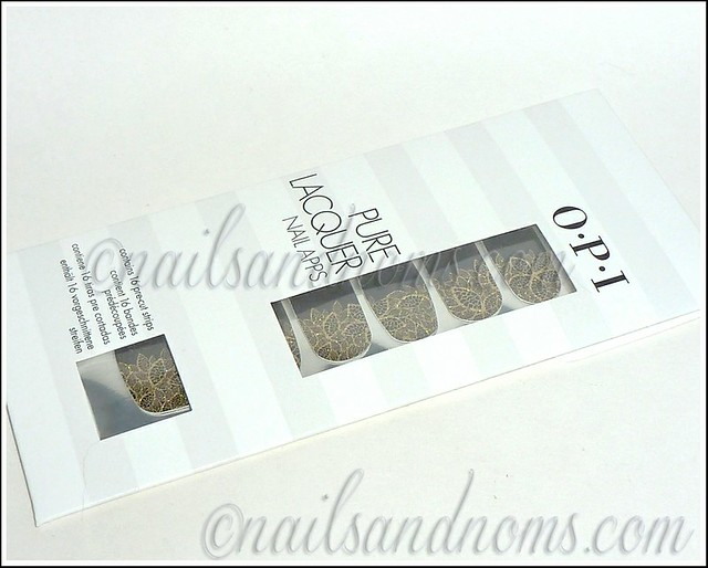 OPI Pure Lacquer Nail Apps - Gold Lace 1