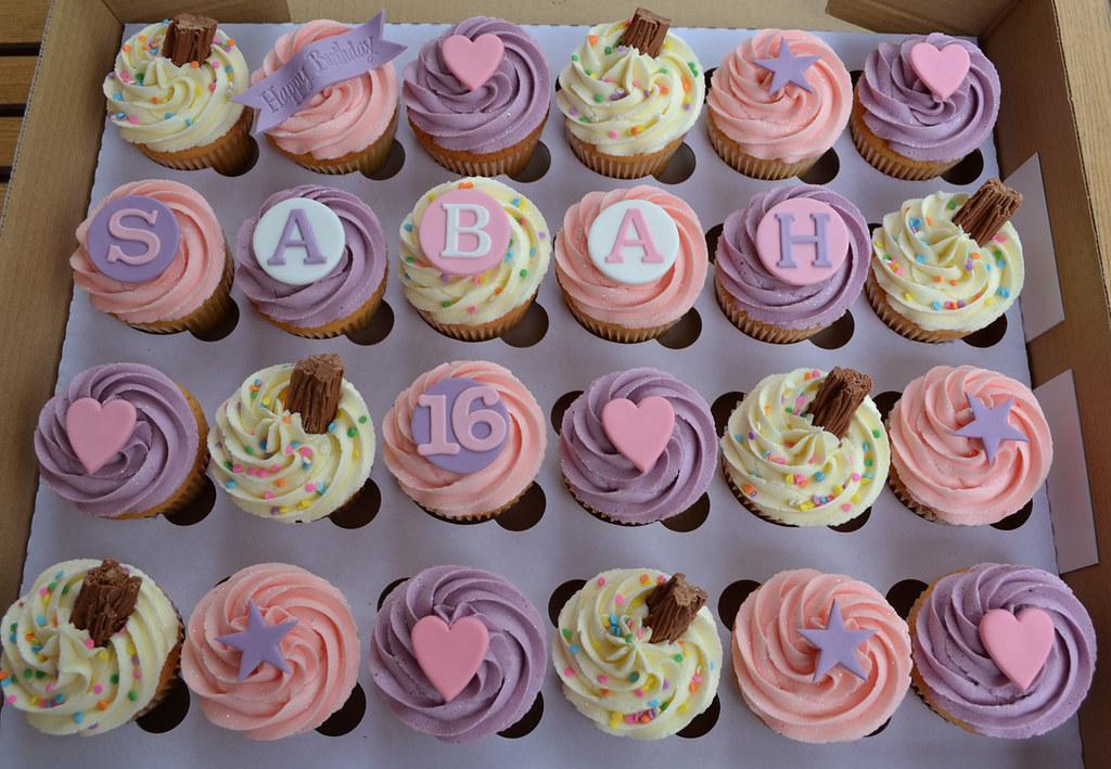 16th Birthday 24 Cupcake Gift Box