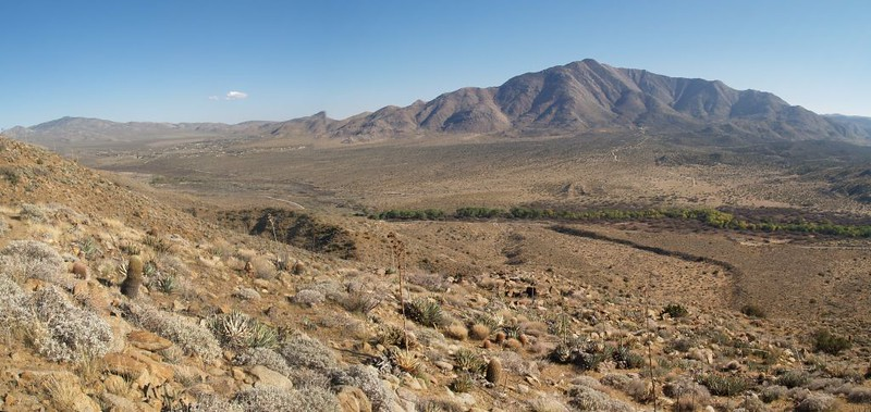 PCT San Felipe Hills - Granite Mountain and Shelter Valley to the south