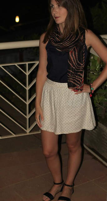 falda blanca pullandbear
