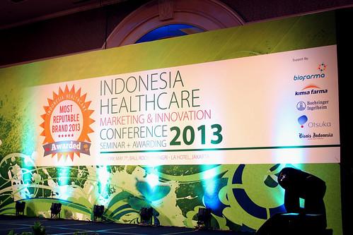 Indonesia Health Care Marketing & Innovation Conference 2013 – Backdrop. — di Shangri-La.