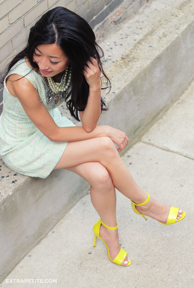 pastel tweed dress