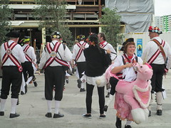 Morris Dancers complete with crazy unicorn lady