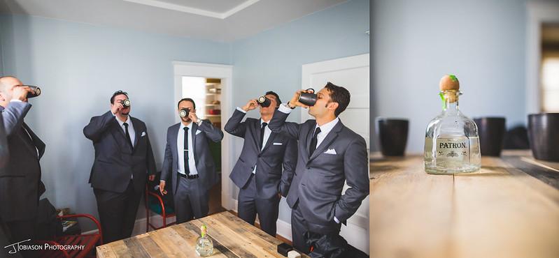 groomsmen tequila shot