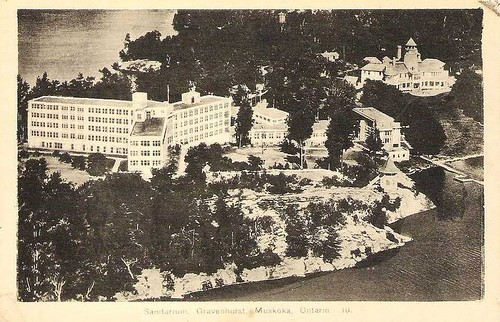 'Muskoka Hospital from the Air' Postcard