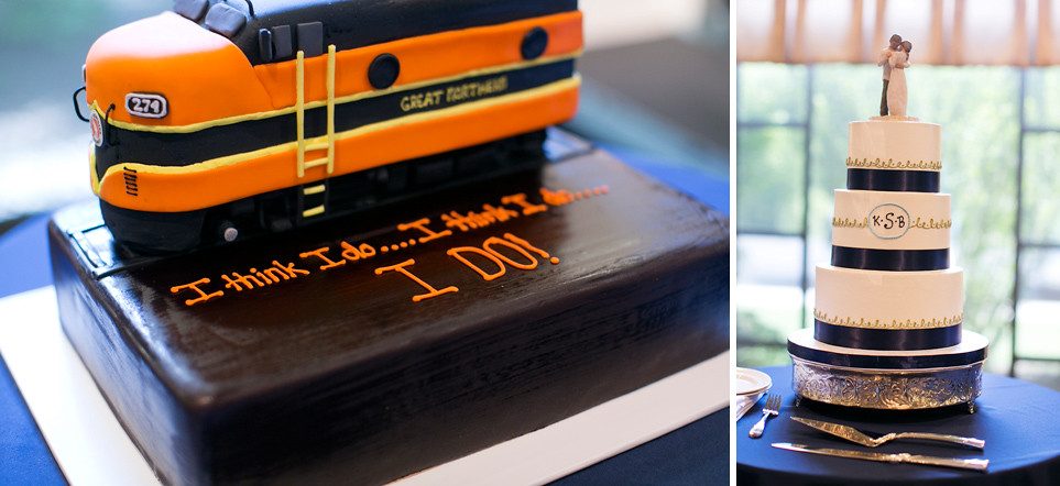 Groom's Train Cake