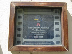 Photo of Capitol Cinema, Padstow film cell plaque