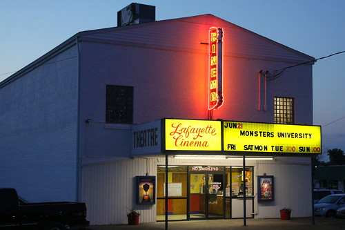 Lafayette Cinema at Dusk