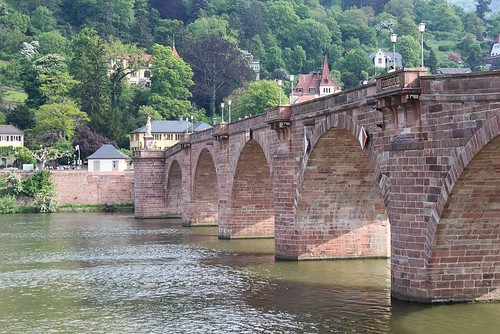 side view of the Old Bridge in Heidelberg