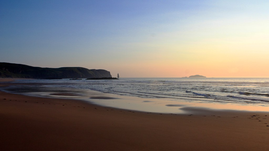 Sandwood Bay at sunset