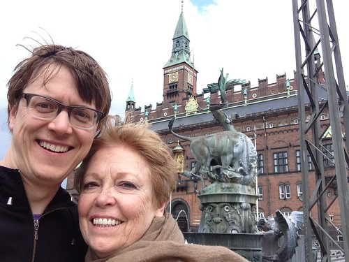Justin and Joan in front of Copenhagen City Hall