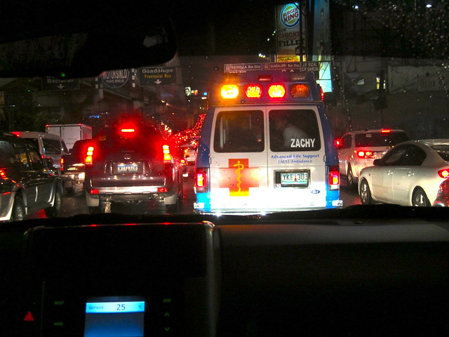 Friday night traffic jam on EDSA