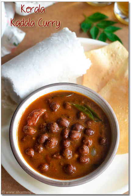 Kerala Kadala Curry with Puttu