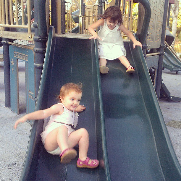 Slide racing...