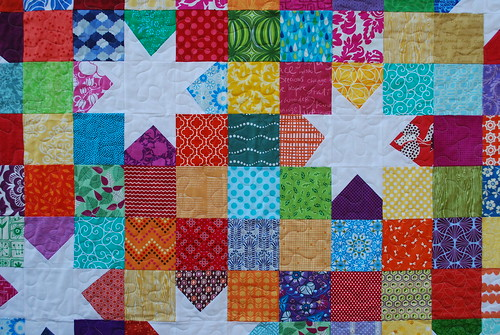 Scrappy Wonky Star Quilt