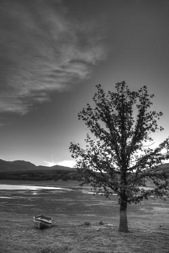 summer sky lake water greece thessaly lakeplastira