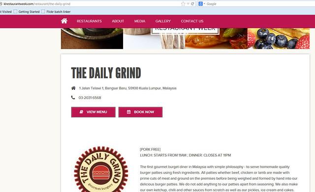 KL restaurant week 2013 - participating restaurants - The Daily Grind