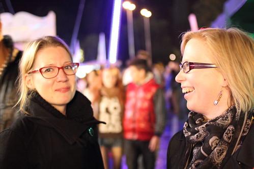 Elina & Hanna at Schueberfouer