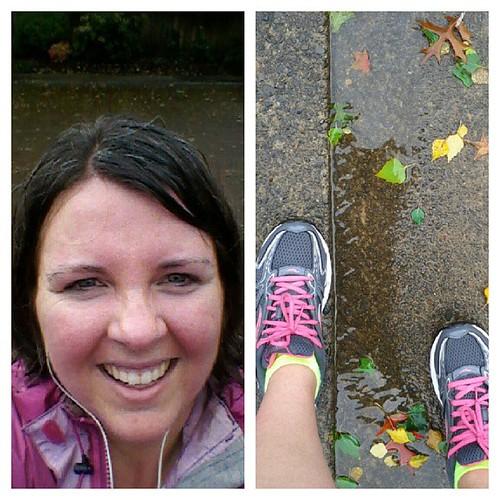 2.5 miles in the rain.