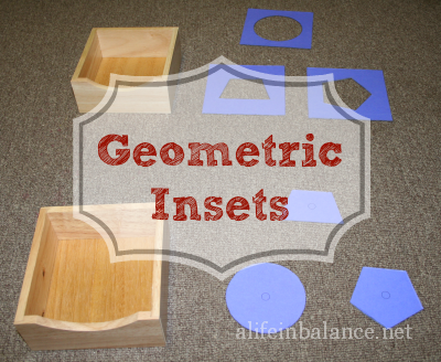Homemade Montessori: Geometric Insets