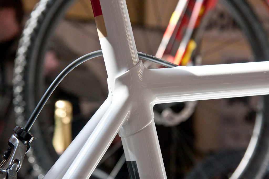Saffron white Road Bike at Bespoked Bristol UKHBS