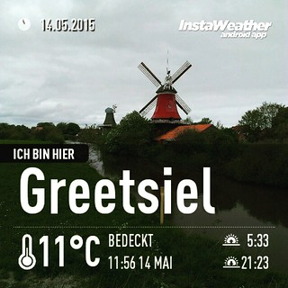 Den ersten #Cache des Tages in #Greetsiel gefangen :) #windmühle #geocaching #instaweather #instaweatherpro #weather #wx #android #krummhörn #deutschland #day #spring #clouds #afternoon #de