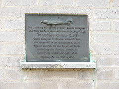 Photo of Sydney Camm bronze plaque