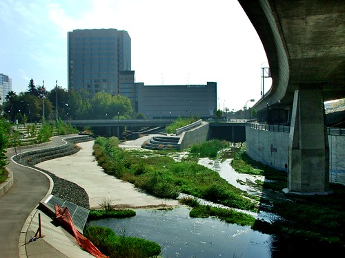 from shadow to shadow, Guadalupe River, Downtown San Jose, October 23, 2005