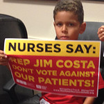 RNs, Community Members Hold Sit In at Offices of Rep. Jim Costa, Urge No Vote on Fast Track/TPP