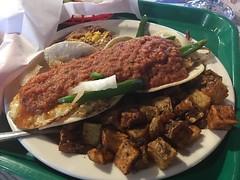 Hueveos Ranchero Fuzzy Taco Style