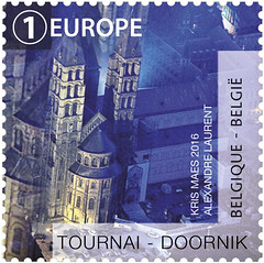 11 La Belgique vue du ciel timbre E