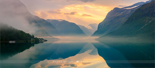 Sunrise at Lovatnet - Norway