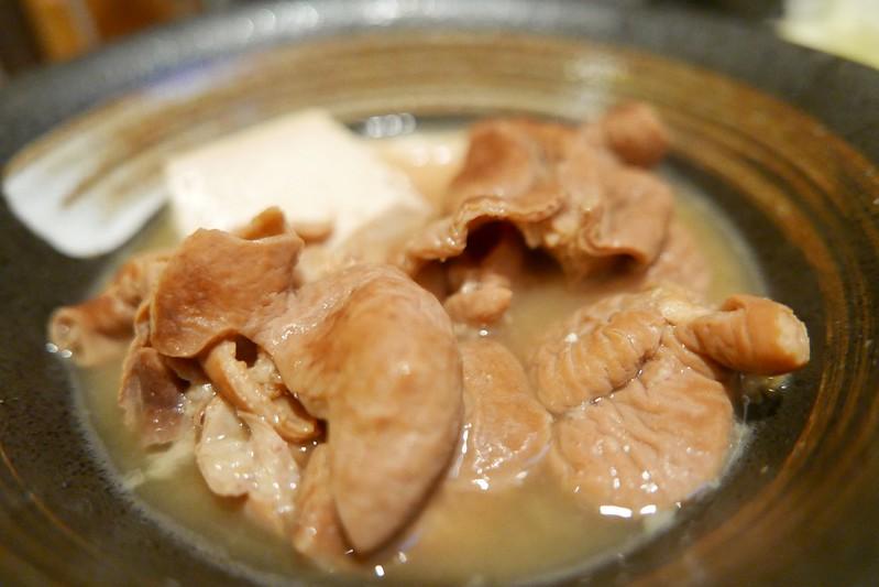 池袋UOKもつ煮豆腐皿ハーフ