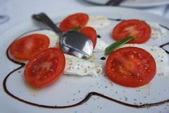 potato and tomato genus, tomato, caprese salad, mozzarella, food, dish,
