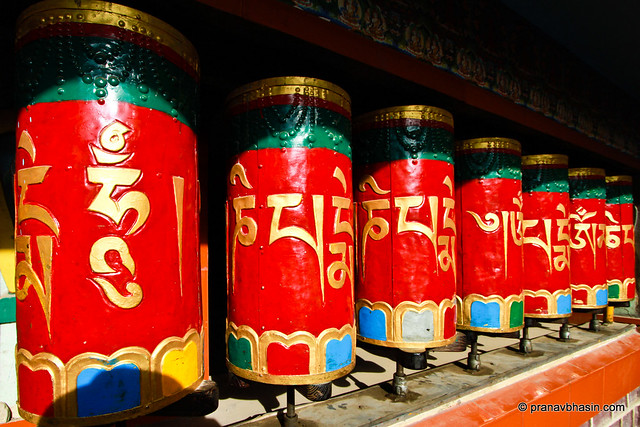 Wheels Of Prayer at McLeod Ganj by Pranav Bhasin