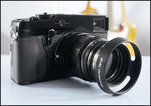 Fuji X-Pro 1 Voigtlander 75mm f/2.5 Heliar Kipon LM > FX adapter
