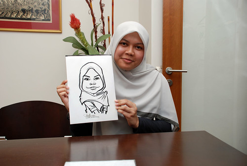 Caricature live sketching for Marks & Clerk Singapore LLP Christmas Party - 9