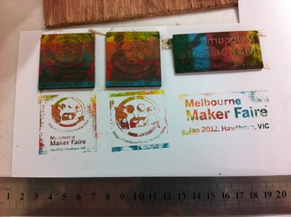 Maker Faire Melbourne Stamp Prototypes - Jan 2012