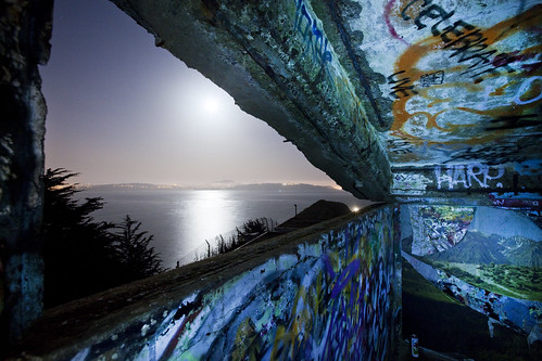 california ca longexposure nightphotography abandoned graffiti decay 4 bunker urbanexploration marinheadlands ue urbex
