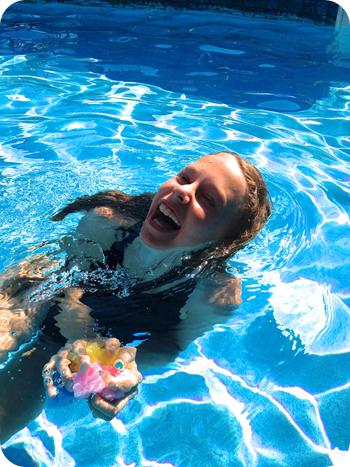 A swimmy pool toy