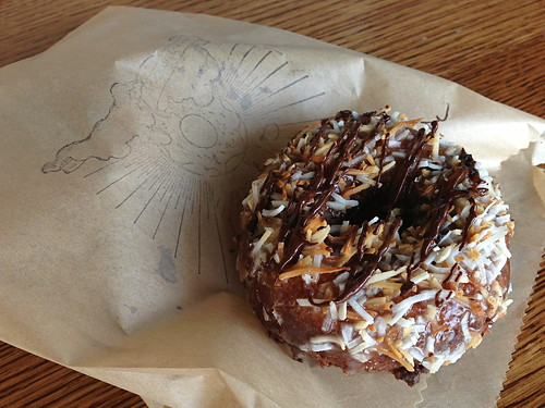 """Samoan"" Doughnut at Sidecar Doughnuts and Coffee (Costa Mesa, CA)"