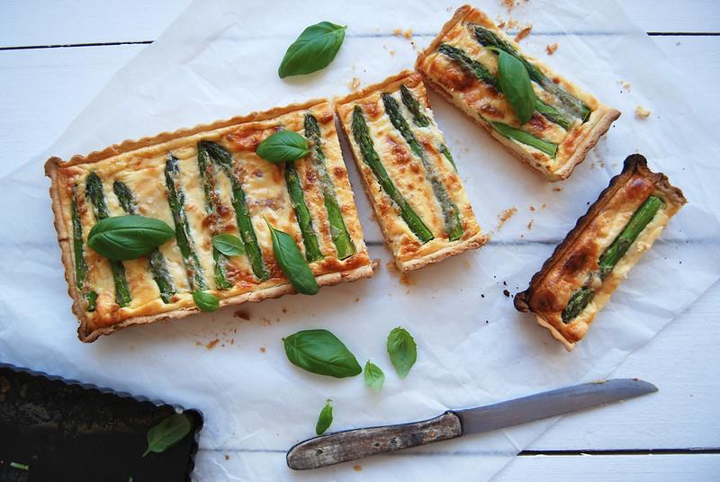 Quiche de espargos e presunto / Prosciutto and asparagus quiche