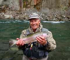 Fred Gordon on the Rangitiki River NZ