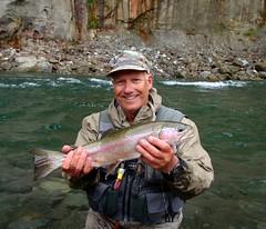 Fred Gordon on the Rangitiki River NZ