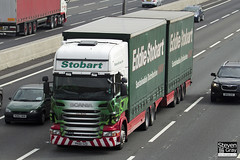 Scania R440 6x4 Curtainside with Drawbar Curtainside Trailer - PK60 SZD - Lucy Brooke - Eddie Stobart - M1 J10 Luton - Steven Gray - IMG_4819