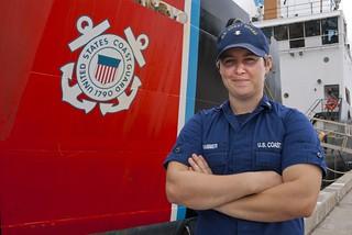 Coast Guard Cutter Oak crewmember builds parts for Dominican Republic patrol boat during Tradewinds 2013