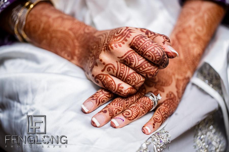 Brides's hands with henna