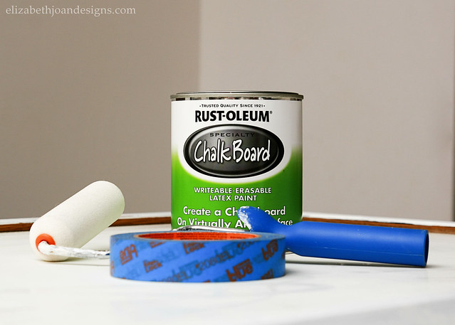 dry erase turned chalkboard 2 - Dry Erase Board Paint