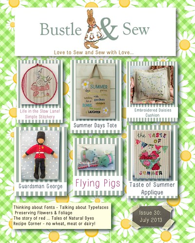 Bustle & Sew Magazine July 2013